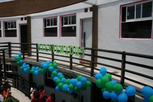 Vista exterior aulas segundo piso